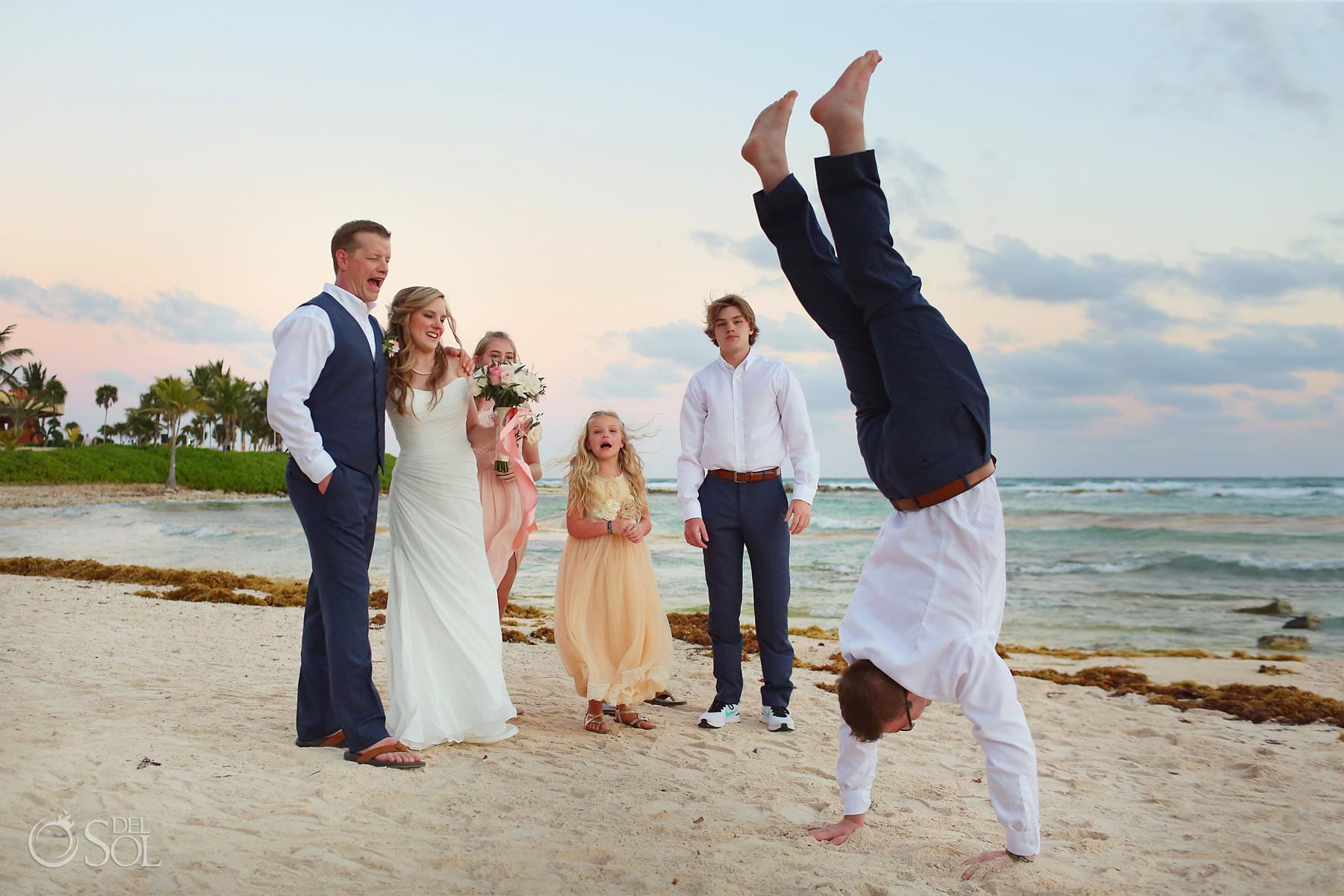Barcelo Maya Palace Beach Family Wedding