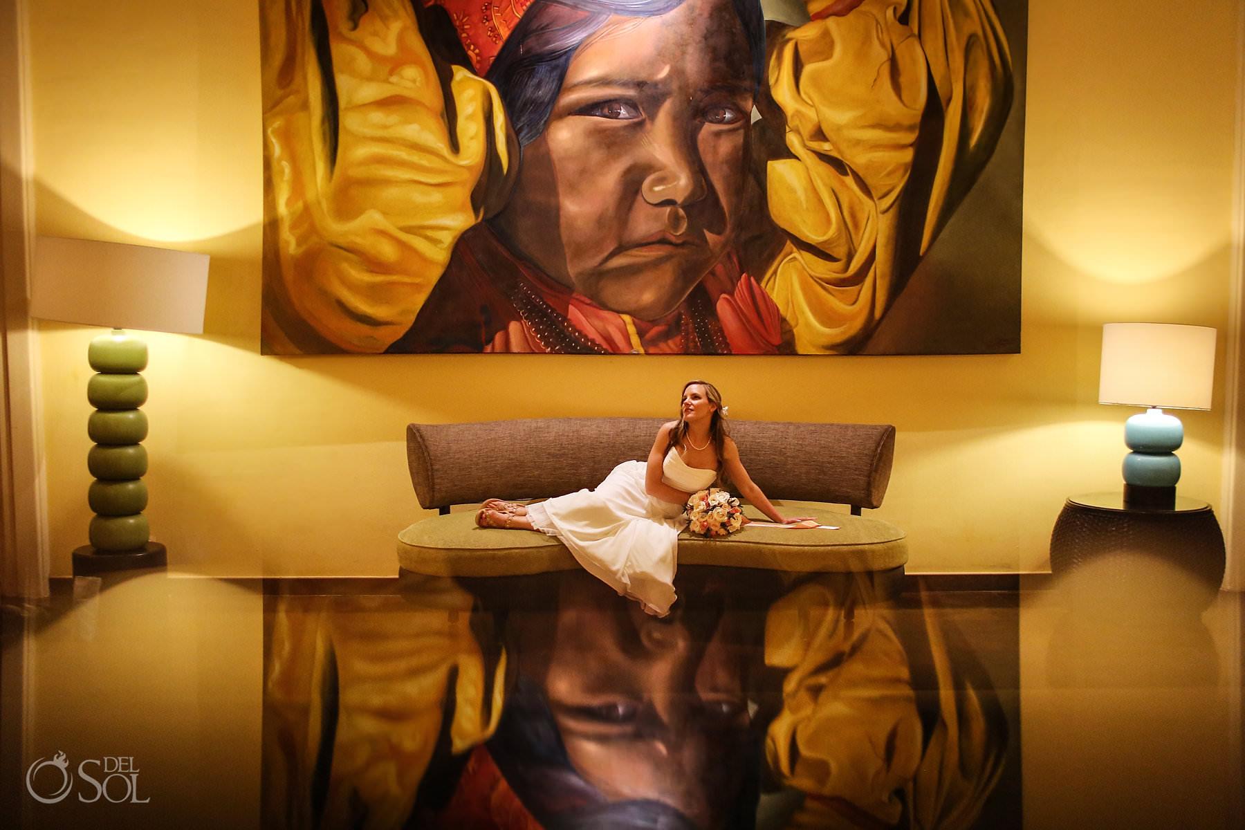 Barcelo Maya Palace Wedding bridal portrait