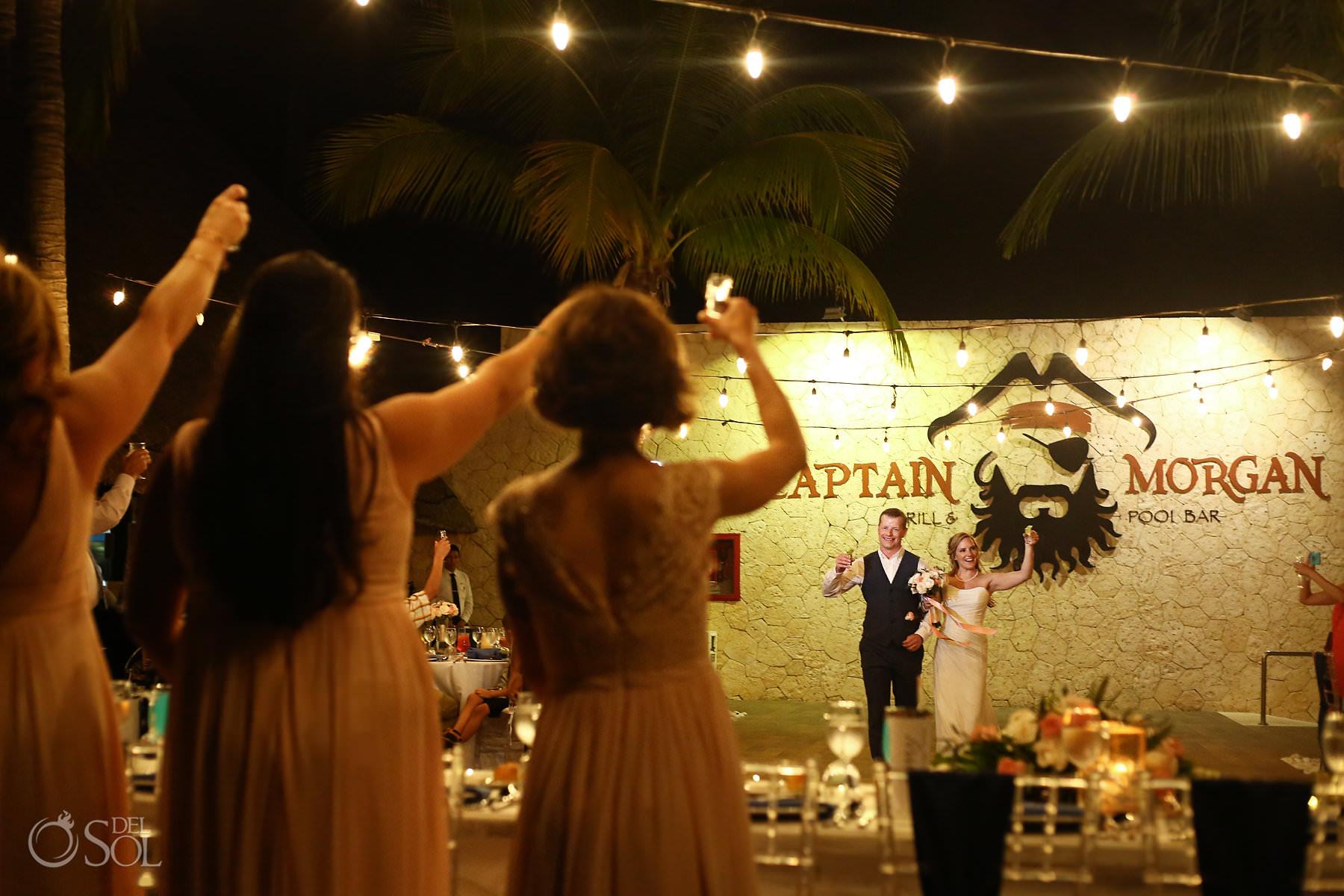 Captain Morgan Grill wedding reception Riviera Maya Mexico