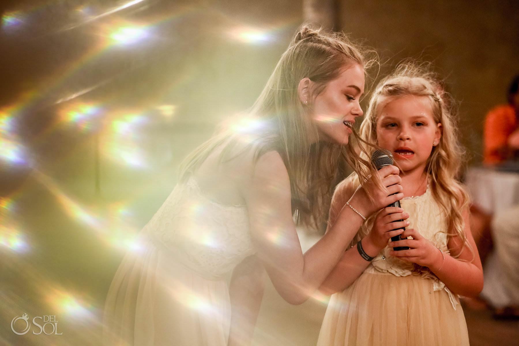 girls singing Captain Morgan Grill wedding reception