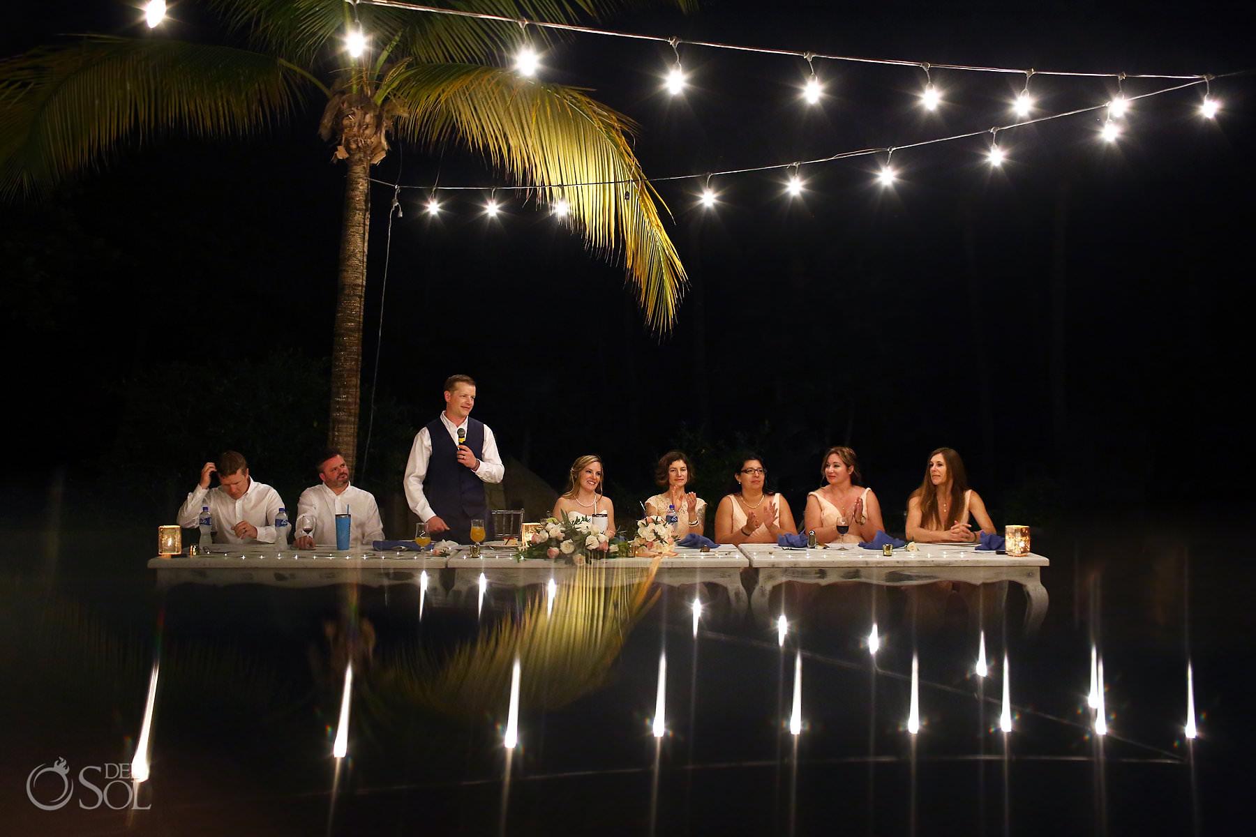 Barcelo Maya Palace Wedding Captain Morgan Grill reception Riviera Maya Mexico A+J