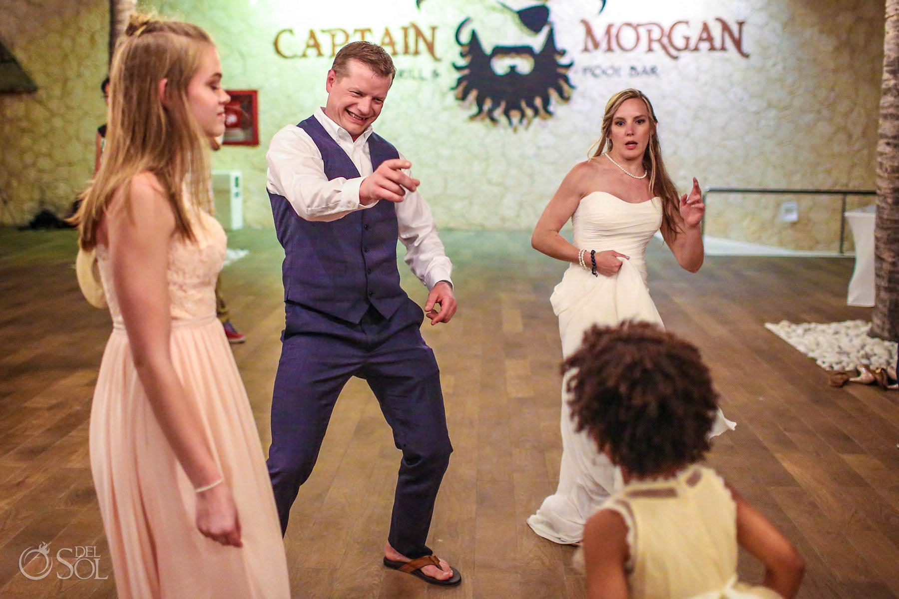 Wedding Captain Morgan Grill reception Riviera Maya Mexico A+J