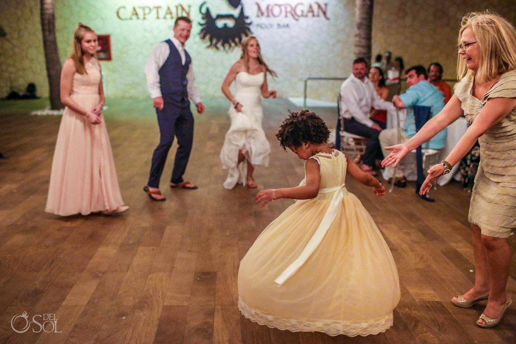 Wedding Captain Morgan Grill reception Riviera Maya Mexico