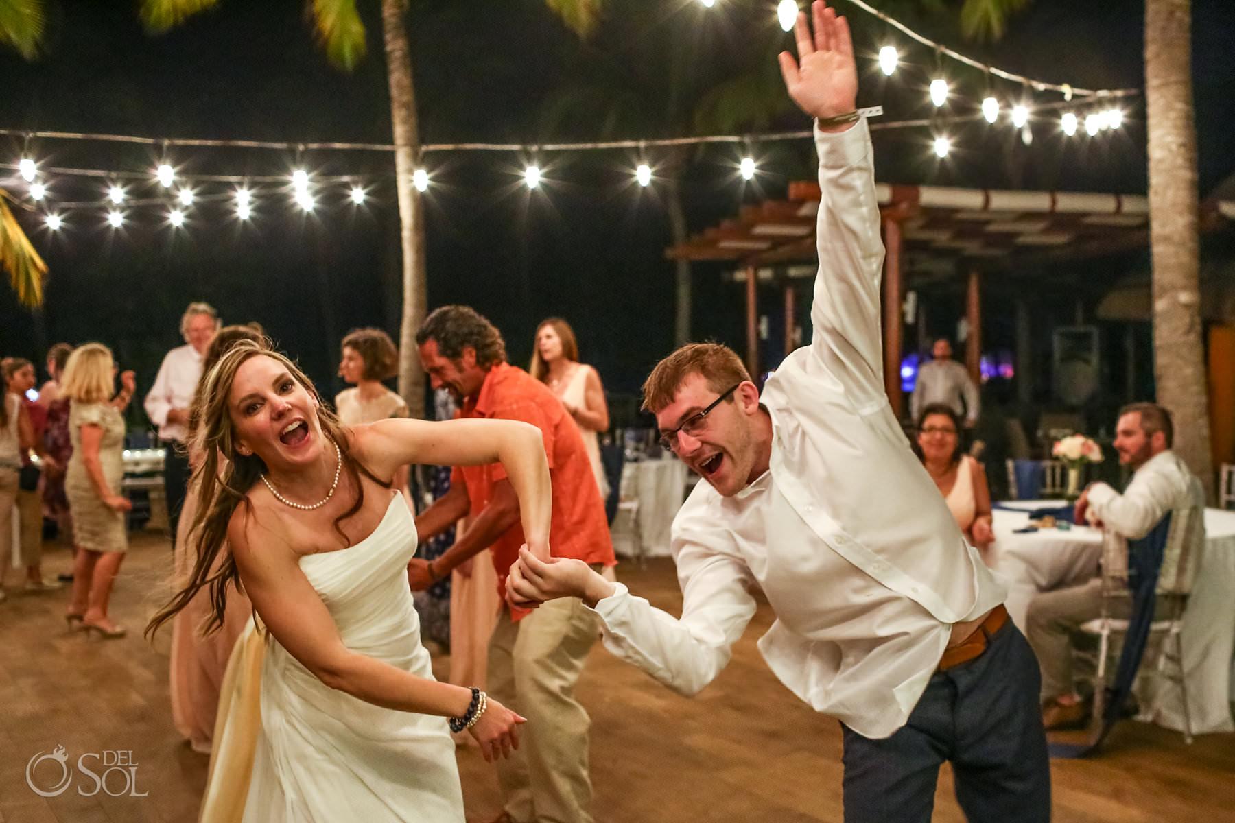 Wedding Captain Morgan Grill fun dance reception Riviera Maya Mexico