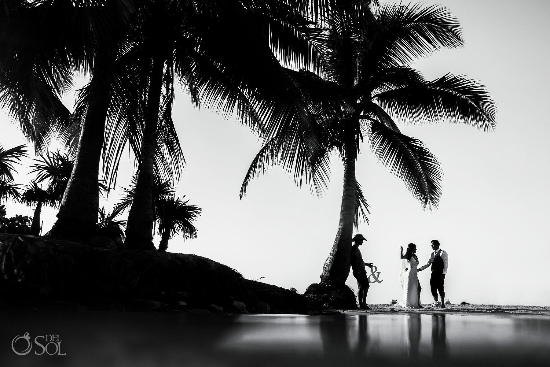 Playa del carmen beach trash the dress couples session