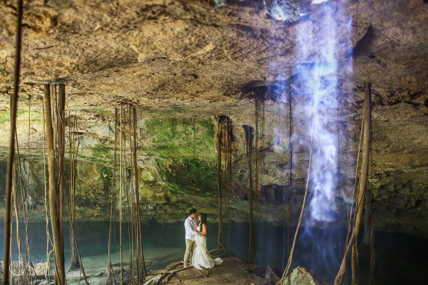 Underground cave Photography playa del carmen Mexico