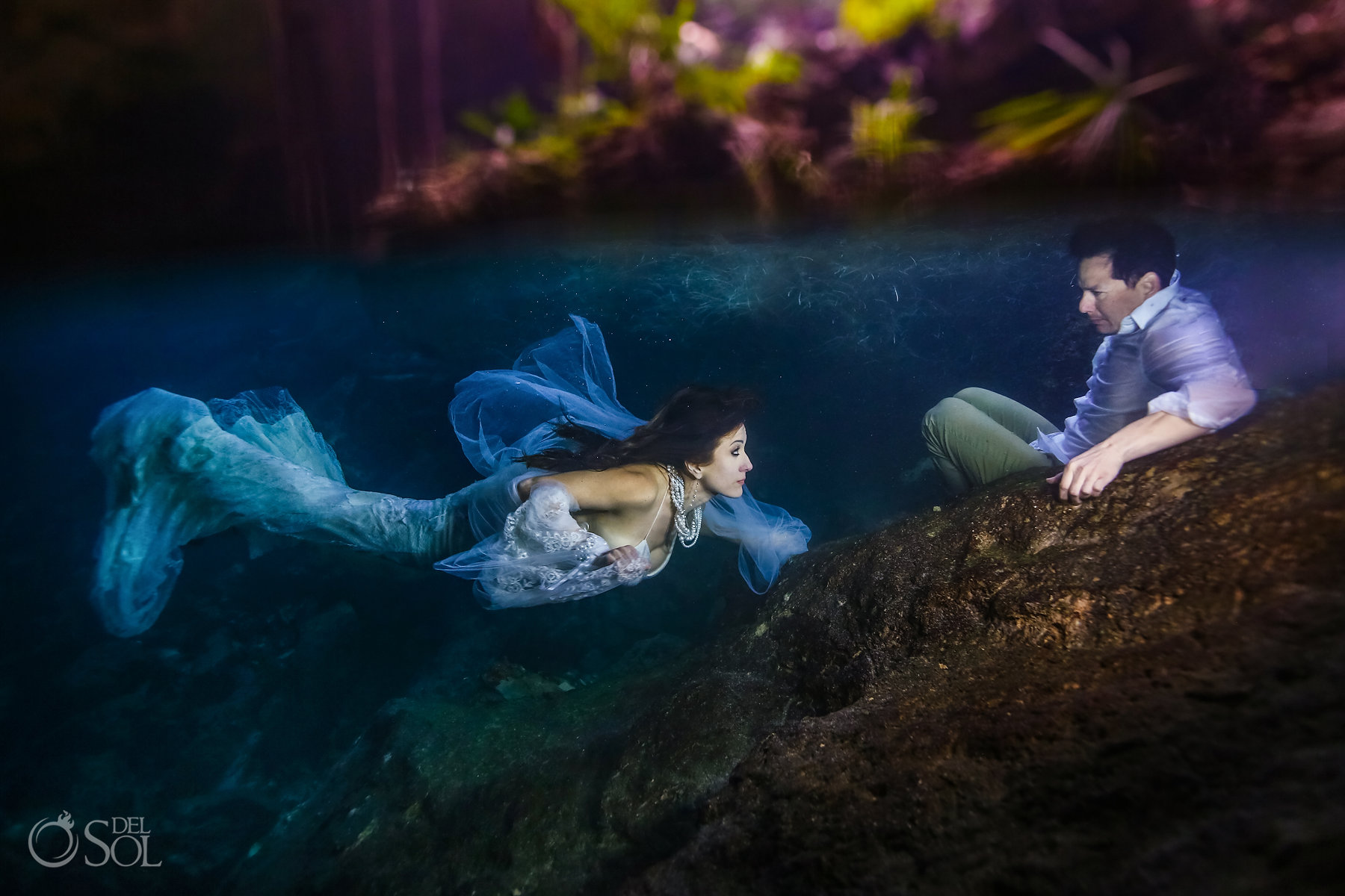 underwater photography for couples Riviera Maya Mexico