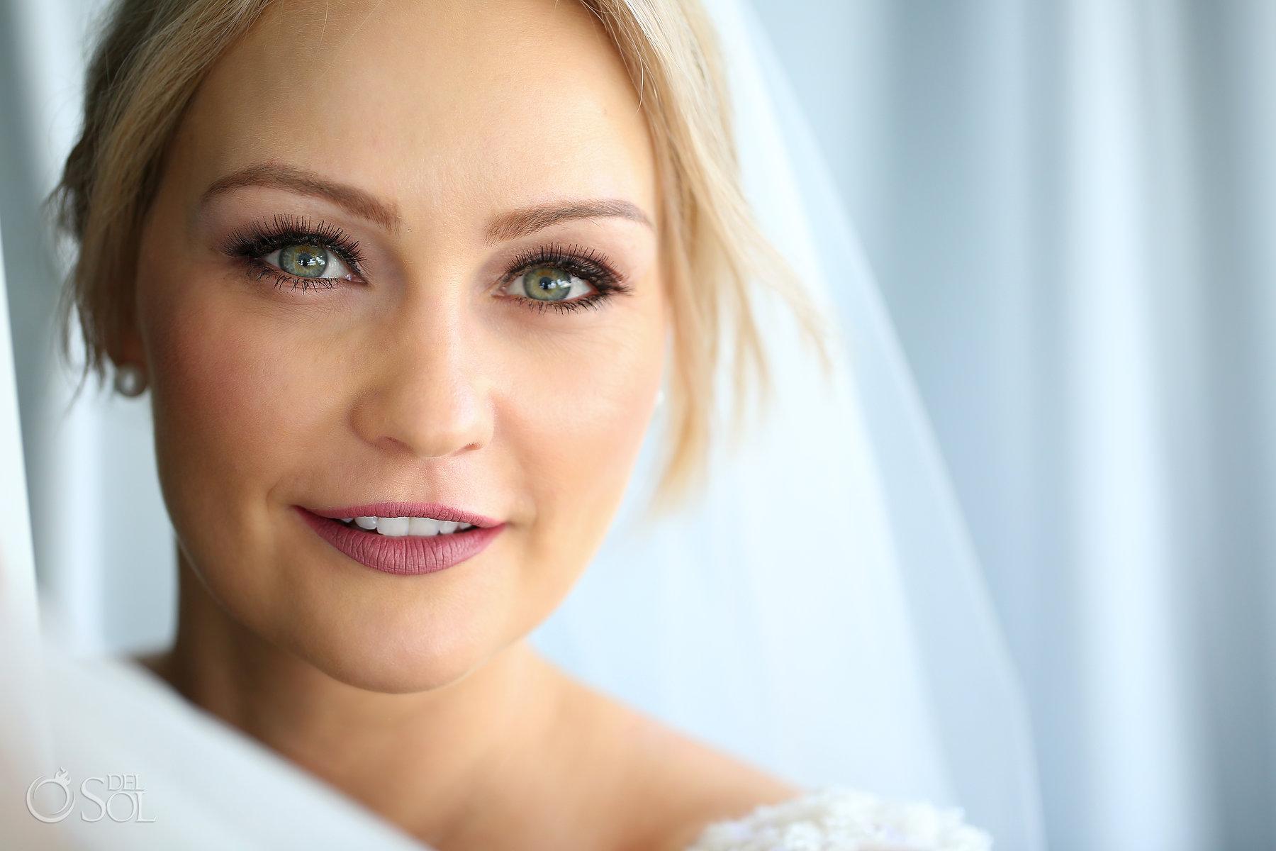 Bridal Portrait blue diamond luxury boutique hotel