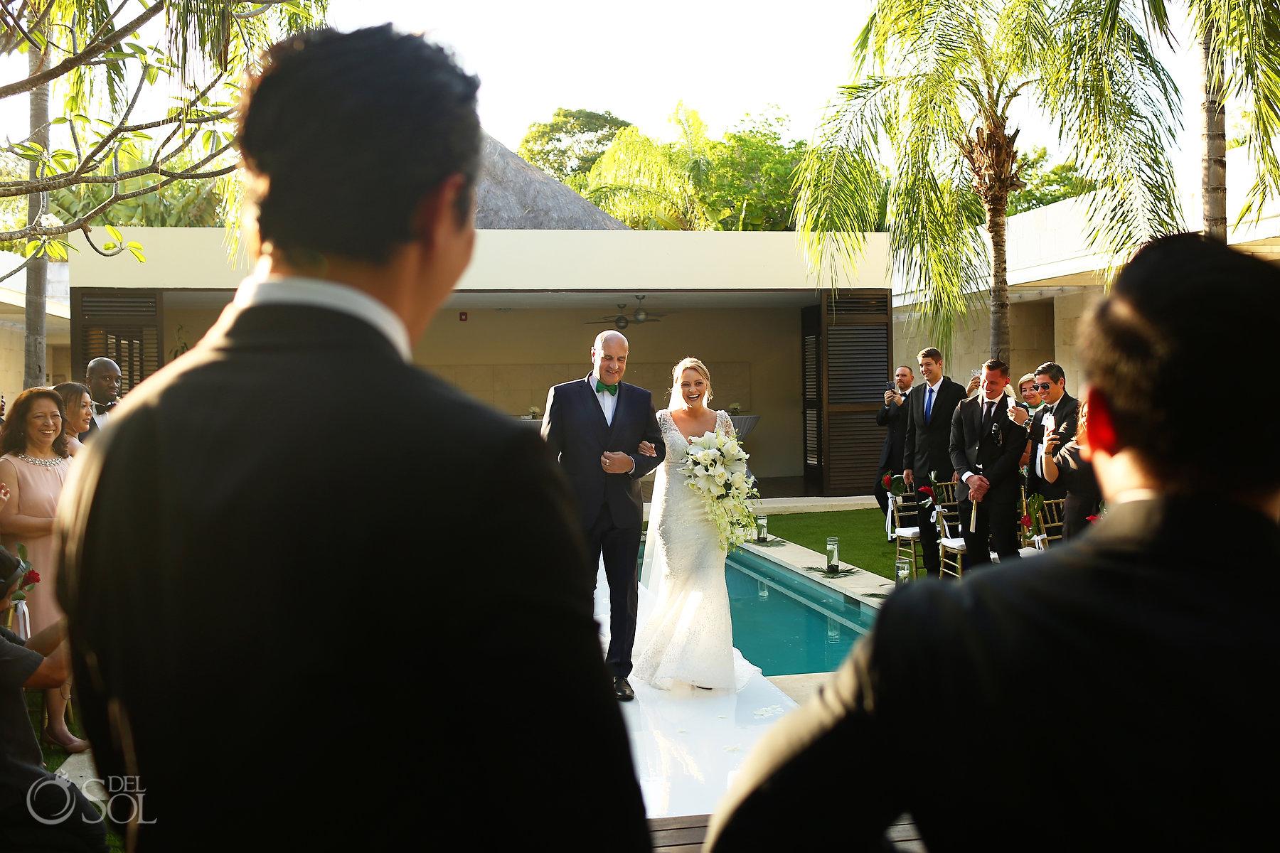 Bride entrance Blue Diamond Spa Wedding