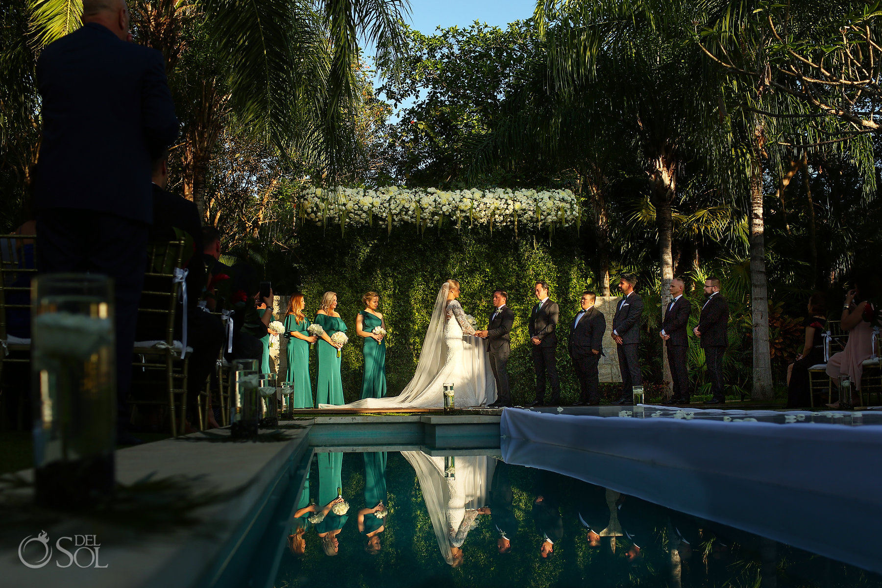 Playa del Carmen garden wedding venue blue diamond luxury boutique hotel