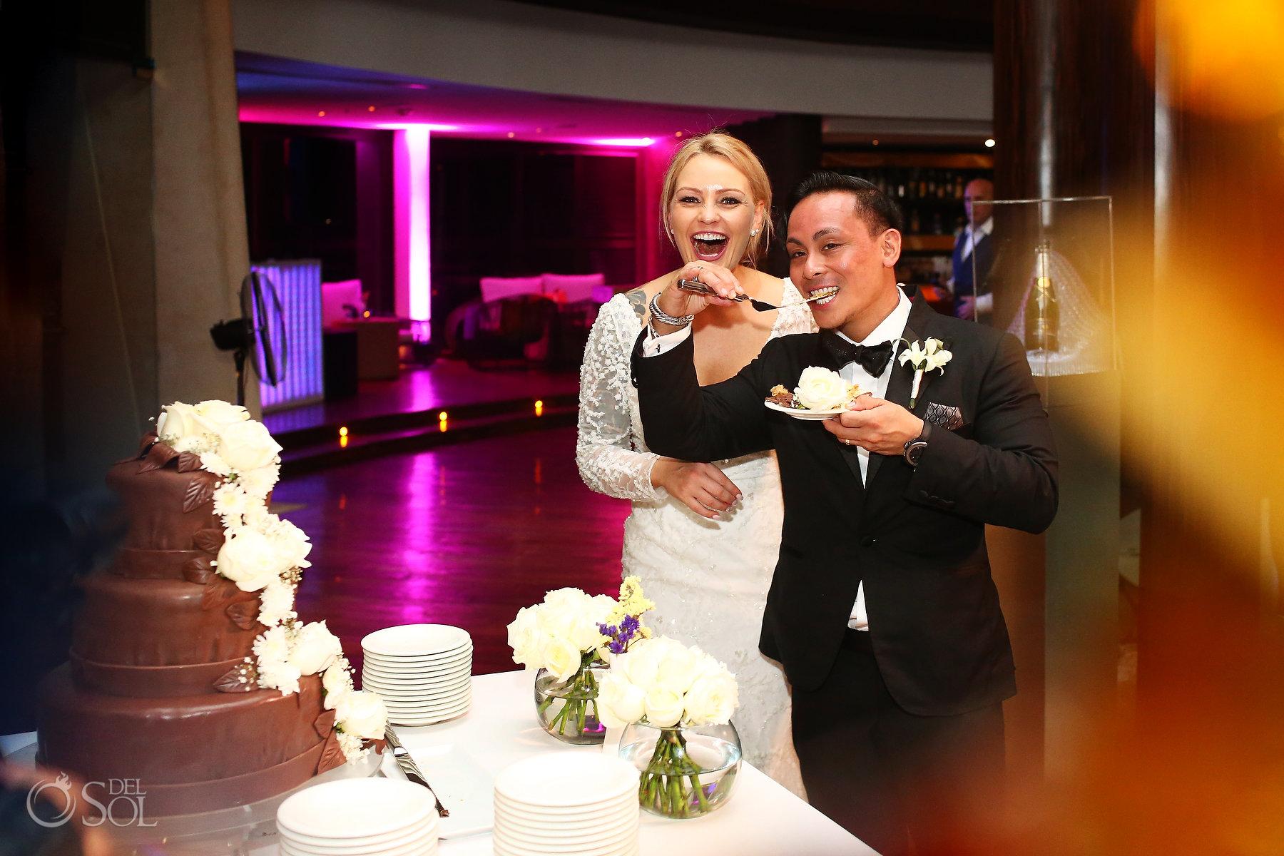Wedding reception Cake Cutting Restaurant Ambar blue diamond luxury boutique hotel