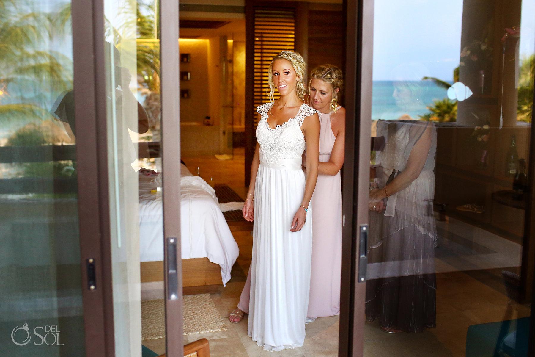 Secrets Maroma Boho Chic Wedding Riviera maya photographer