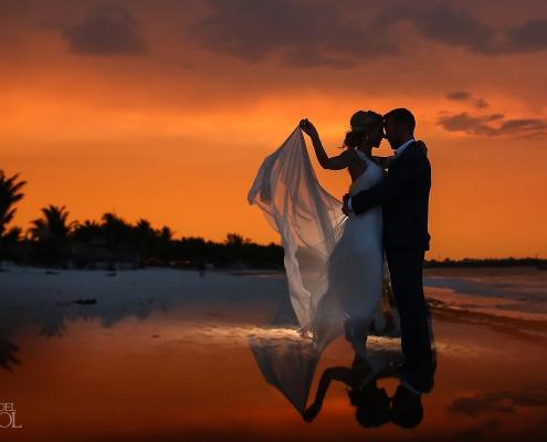 Secrets Maroma Boho Chic beach Wedding Riviera Maya Mexico