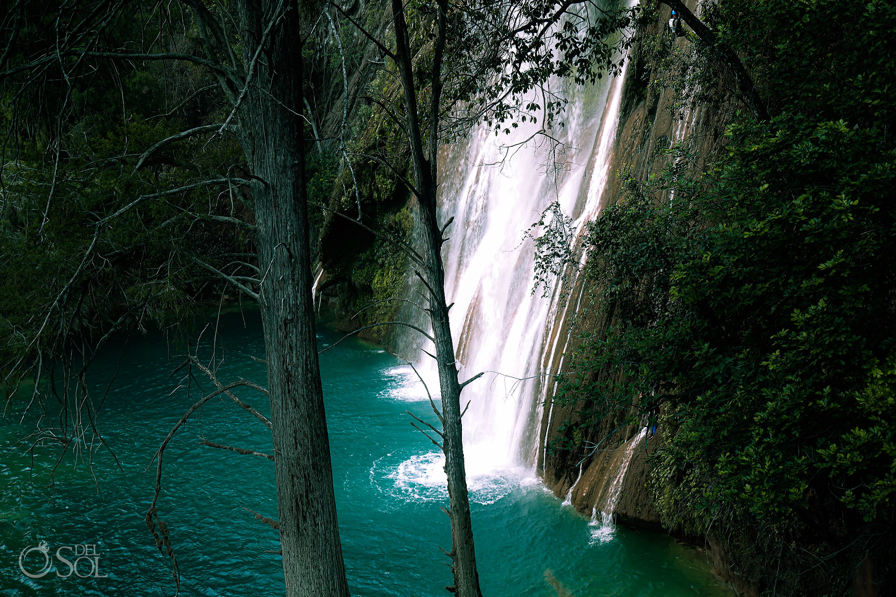 Waterfall Vow Renewal Experience Chiapas Mexico