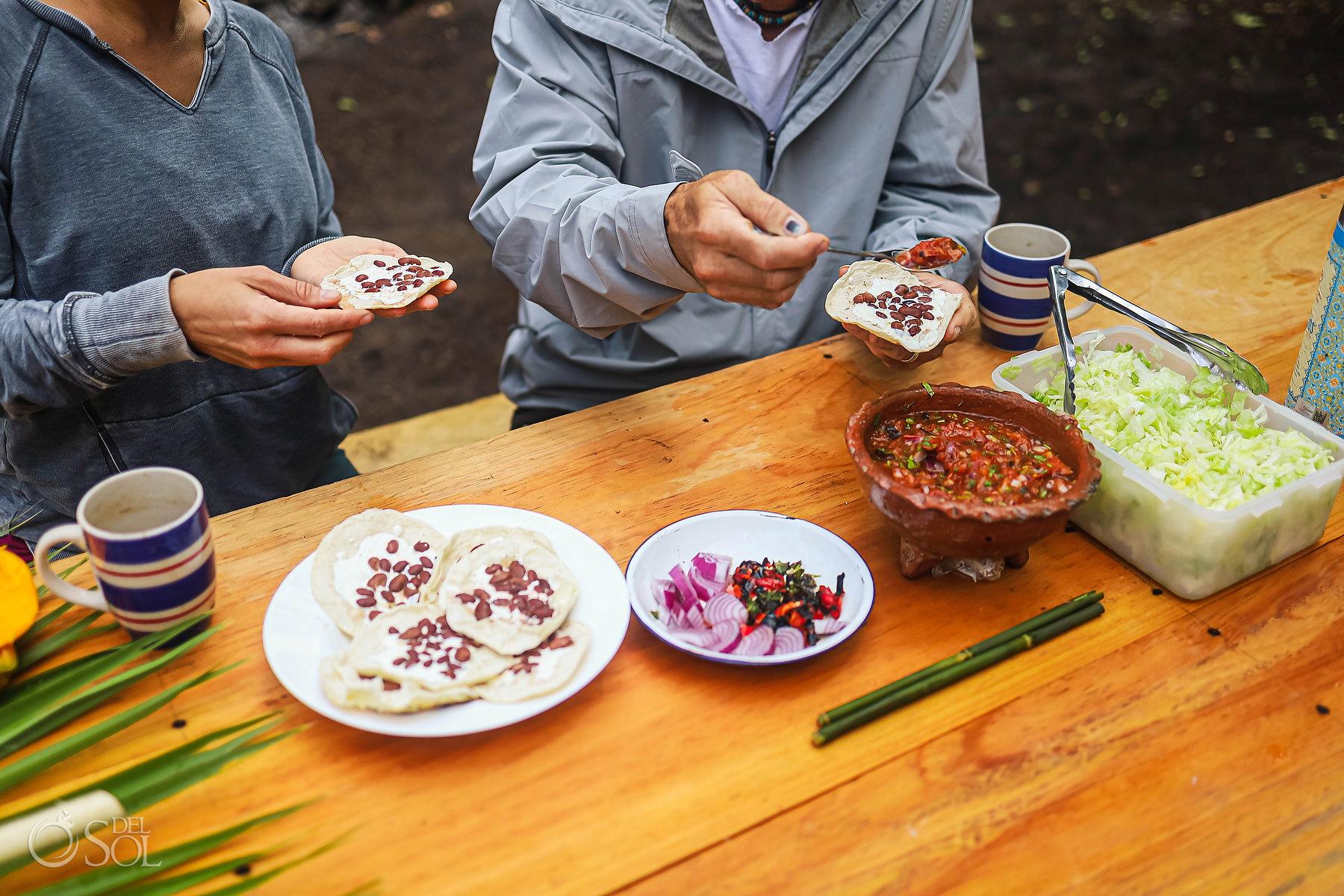 delicious local mexican food Chiapas
