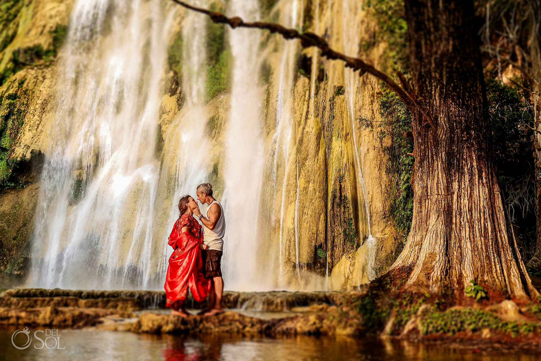 Waterfall Vow Renewal Experience Chiapas Mexico #travelforlove