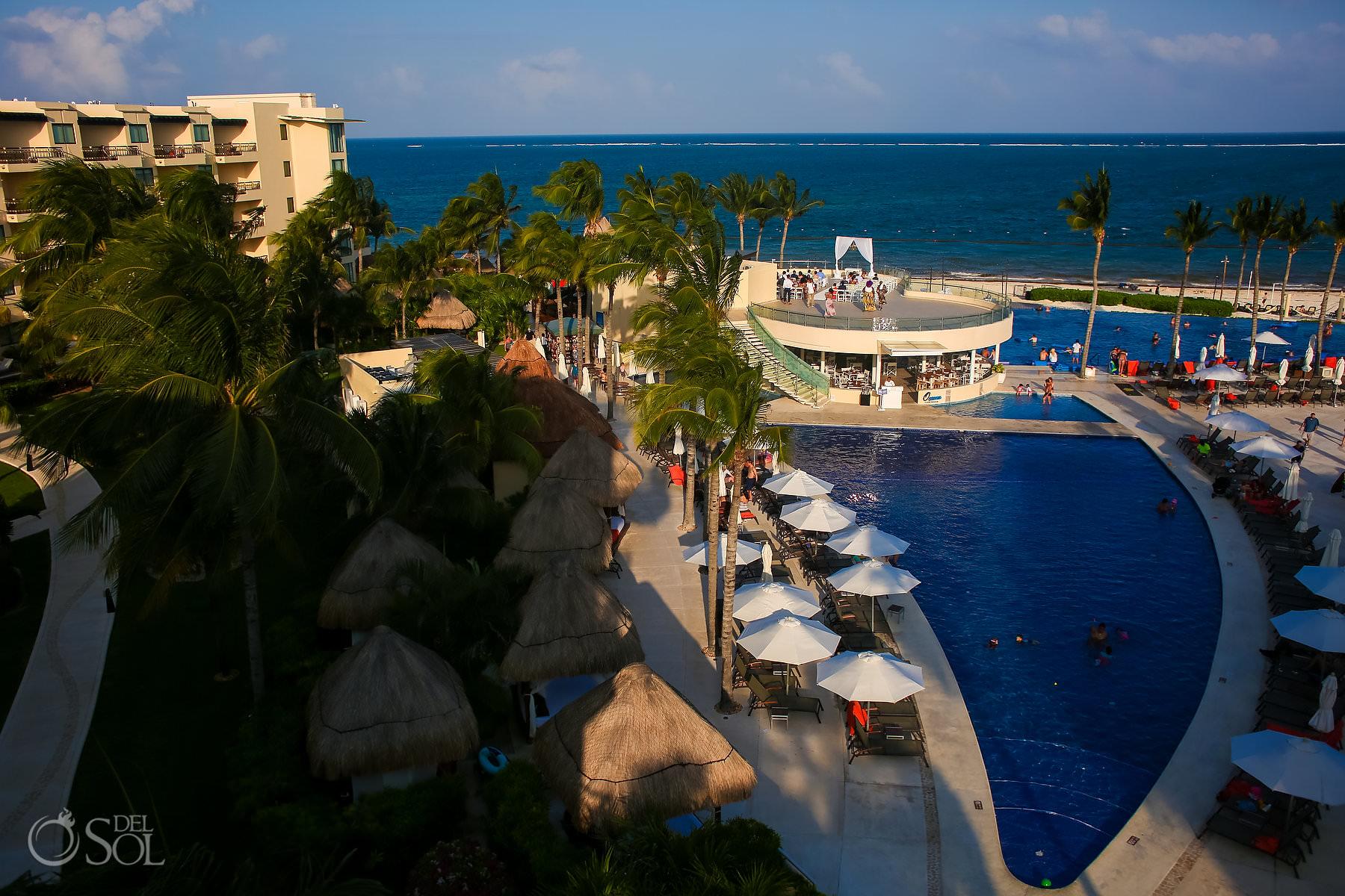 Dreams Riviera Cancun Oceana Rooftop Wedding venue location areal photo
