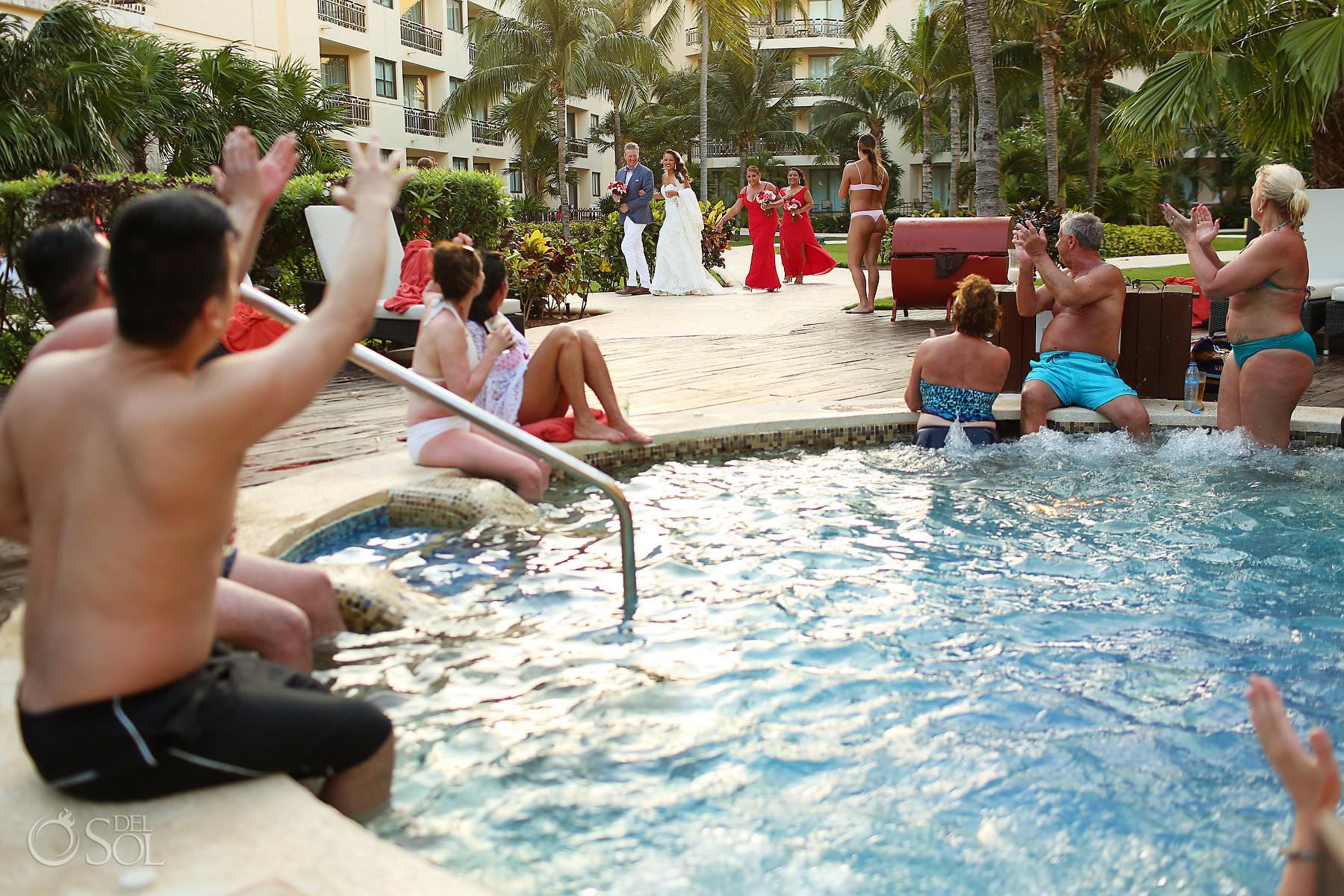 Fearless wedding photographer Dreams Riviera Cancun Riviera Maya Mexico