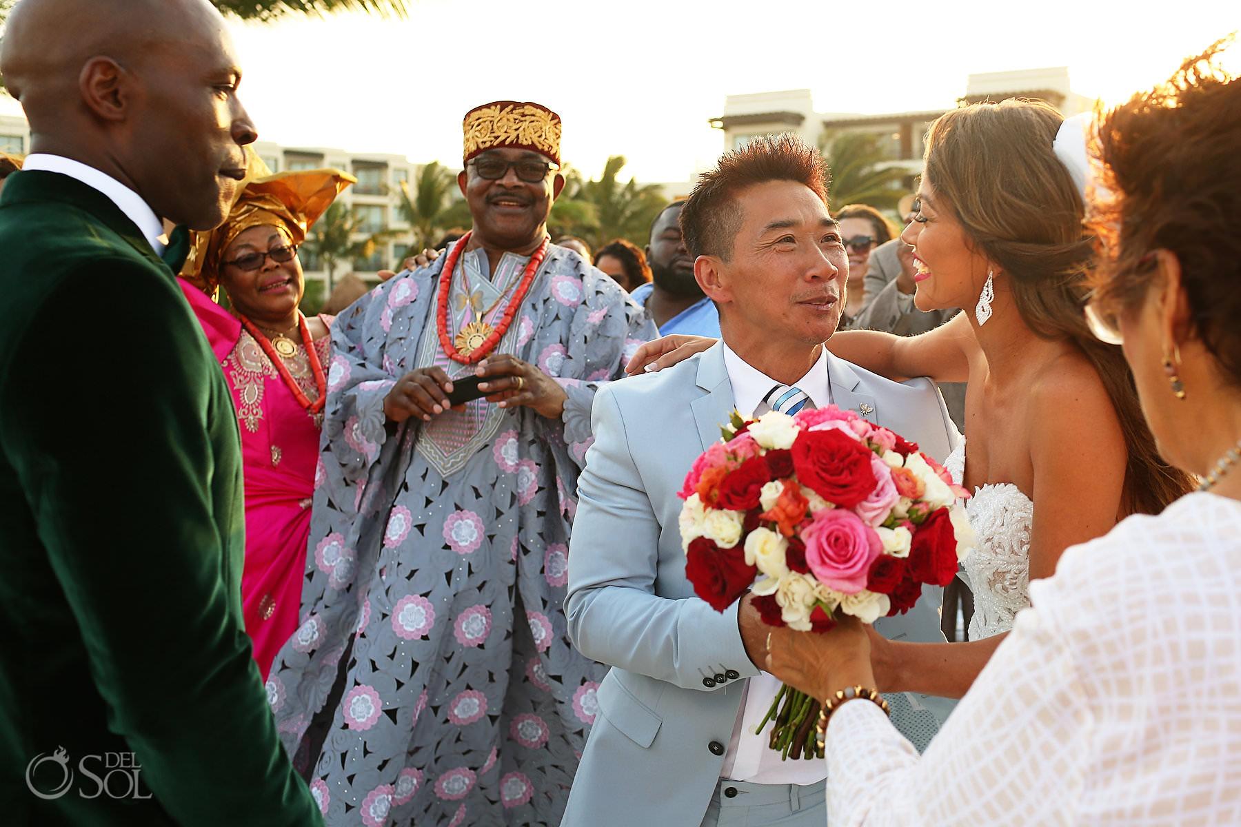 Multicultural wedding Dreams Riviera Cancun Mexico