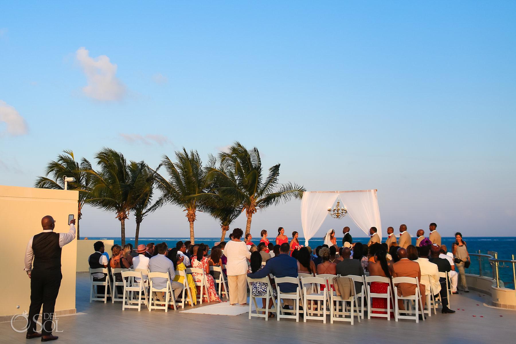 Dreams Riviera Cancun Oceana Rooftop Wedding Ceremony venue photo