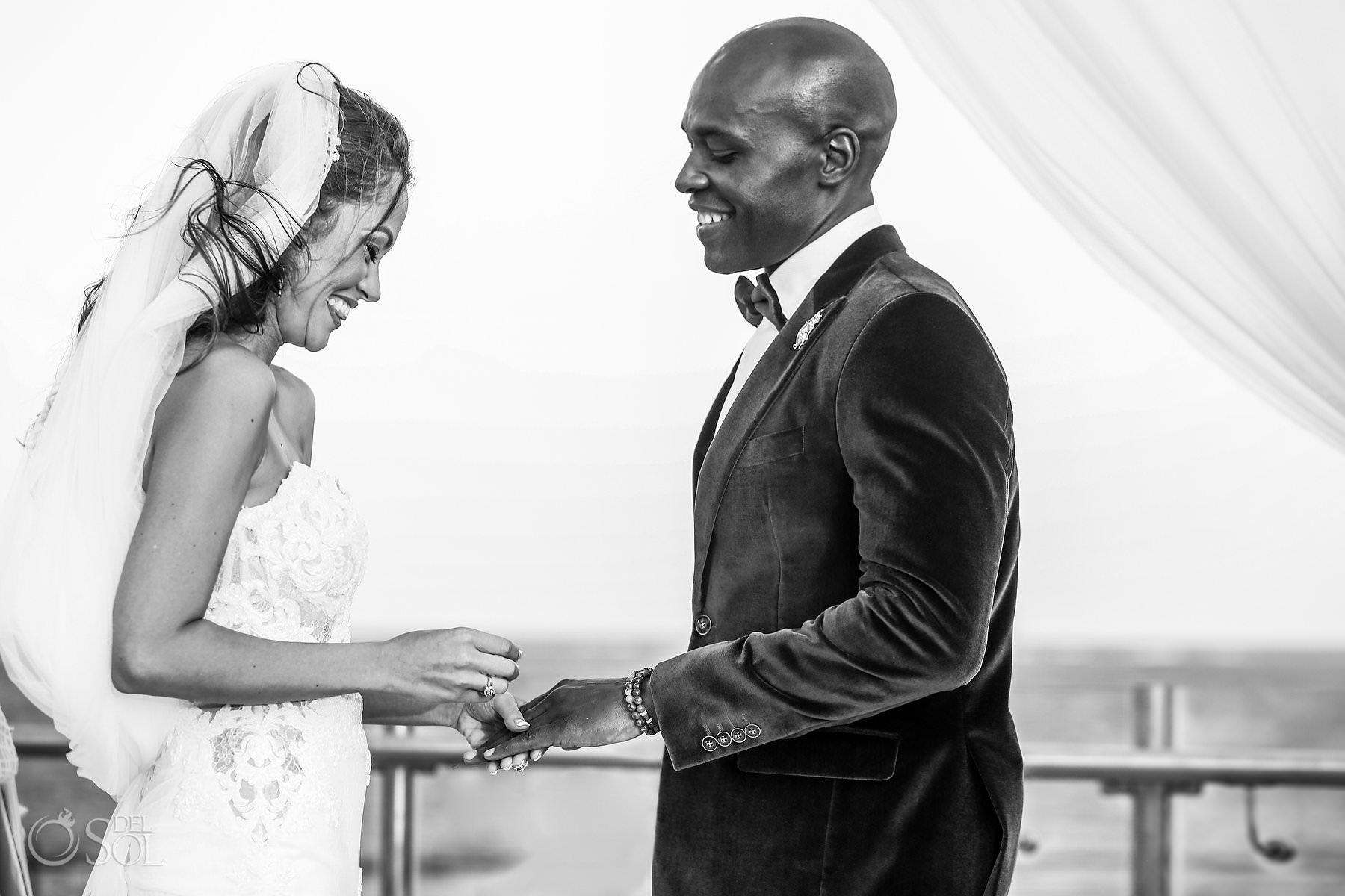 ring exchangeDreams Rivera Cancun Wedding Photography