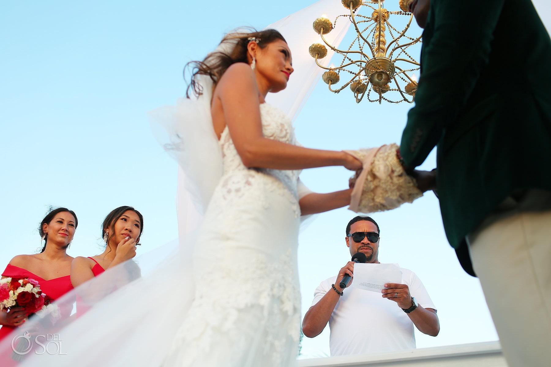 Handfasting unique unity ceremony ideas tie the knot Dreams Riviera cancun Mexico