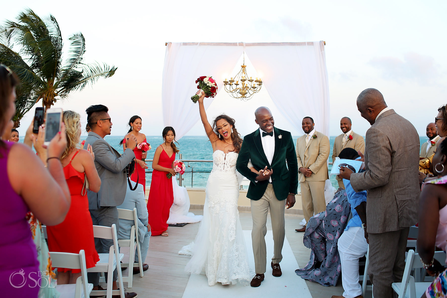 Dreams Riviera Cancun Oceana Rooftop Wedding photographs best riviera maya terrace locations