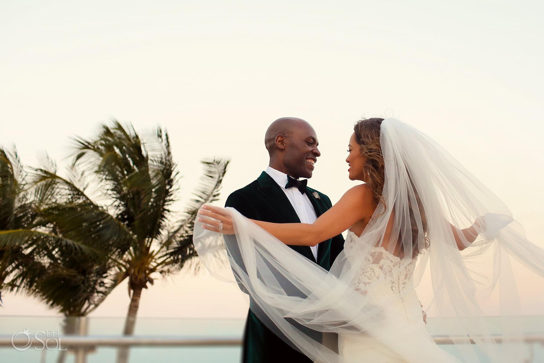 Riviera Maya rooftop terrace wedding ceremony locations Dreams Riviera Cancun Oceana Rooftop