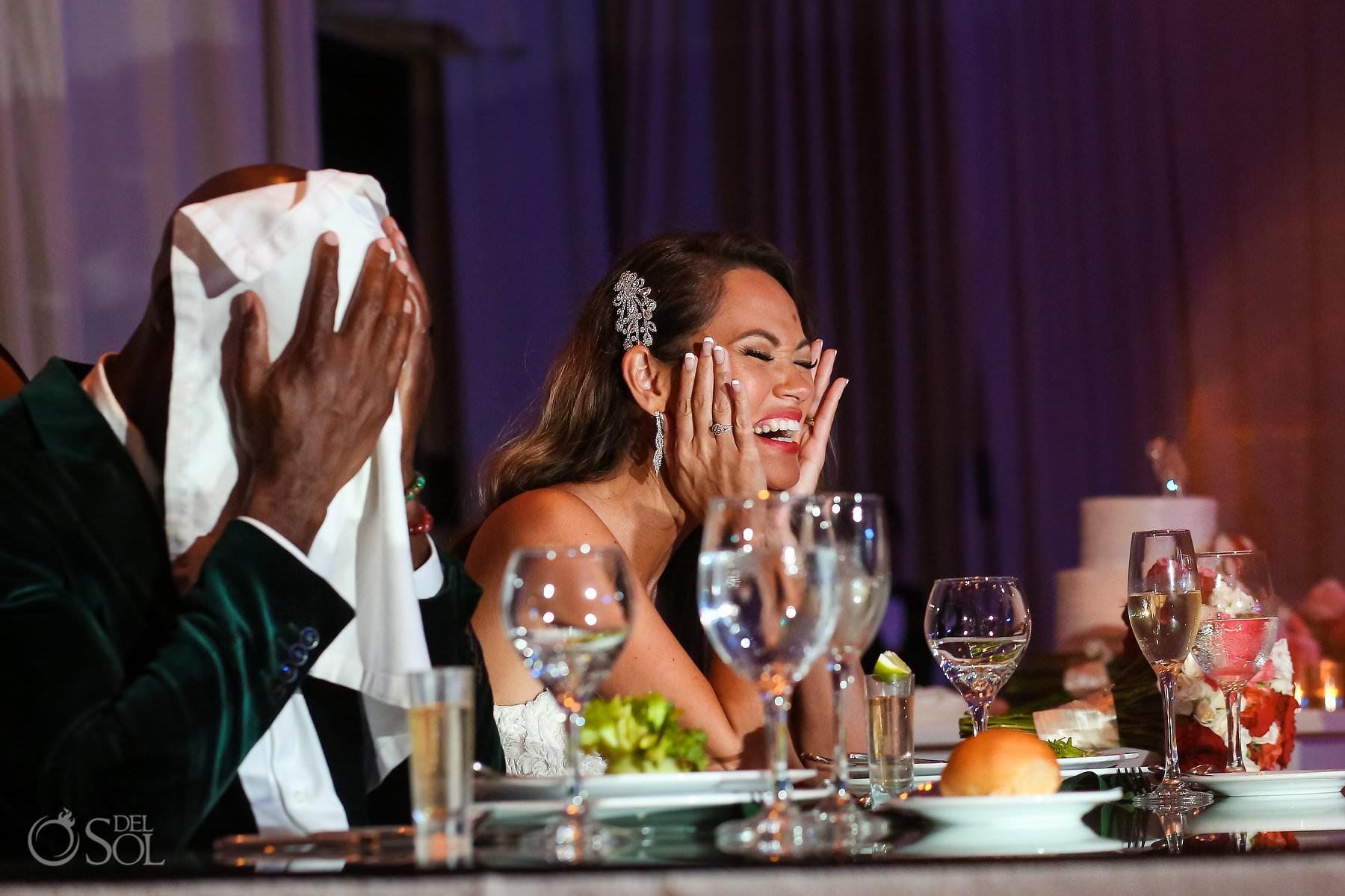 Dreams Riviera Cancun Ballroom wedding reception speeches
