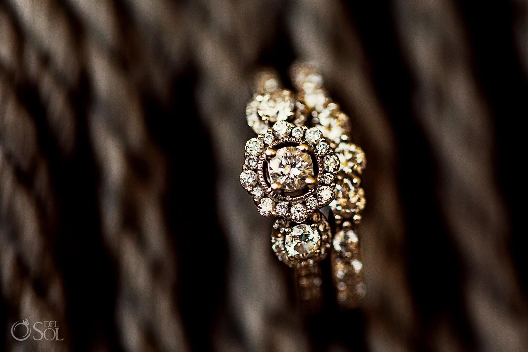 wedding ring shot Playa del Carmen Mexico