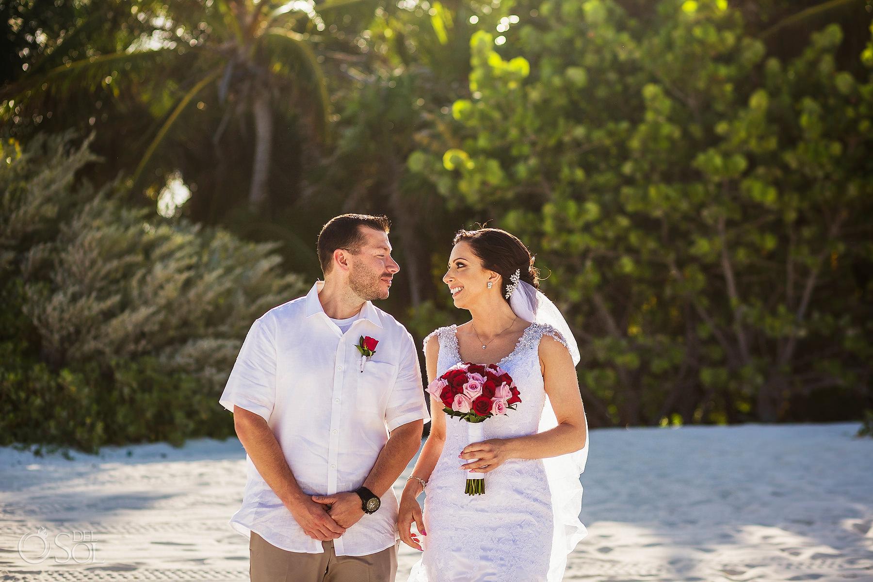 bride and groom portraits Secrets Maroma Elopement Playa del Carmen Mexico