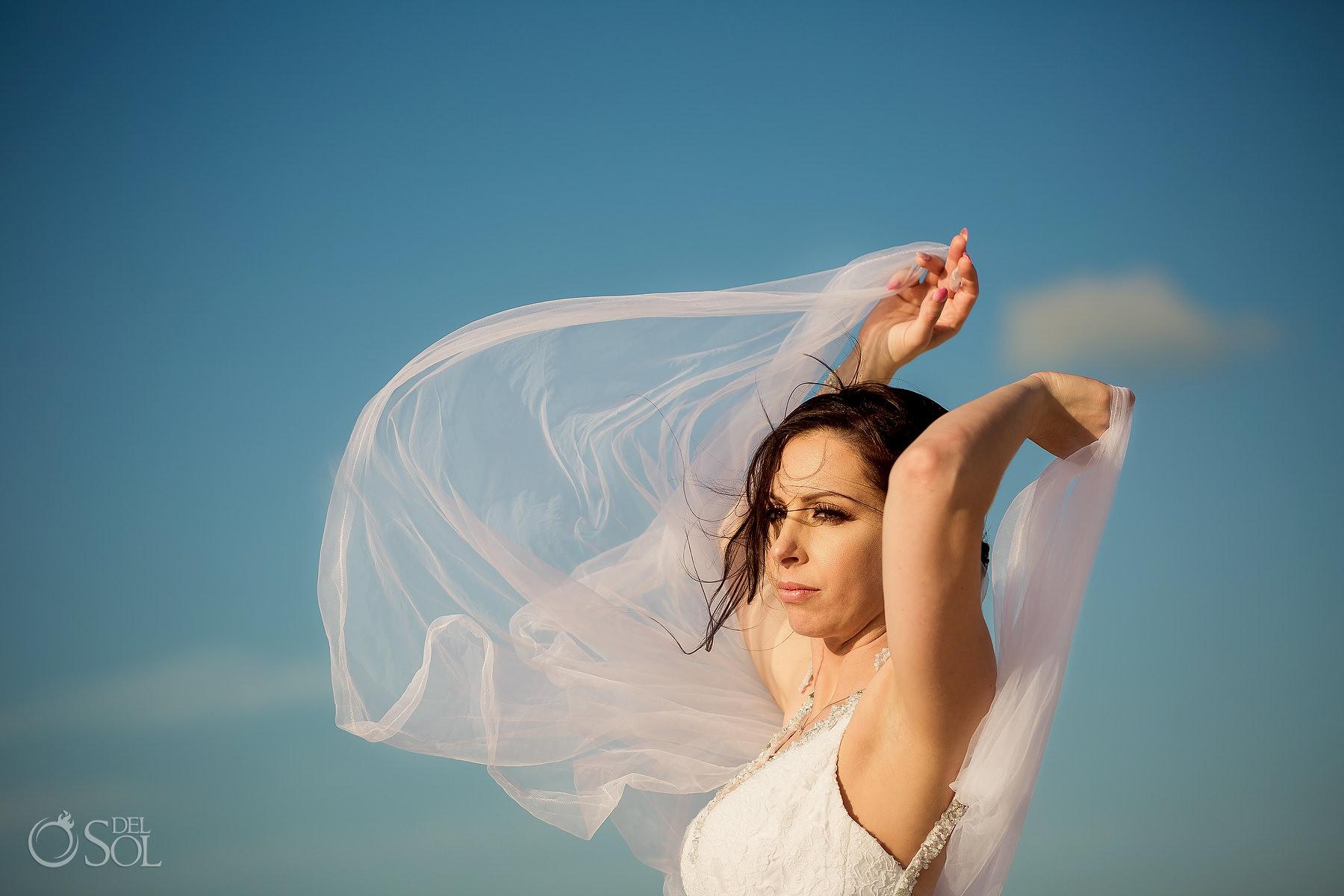 beach bride photography Secrets Maroma Elopement