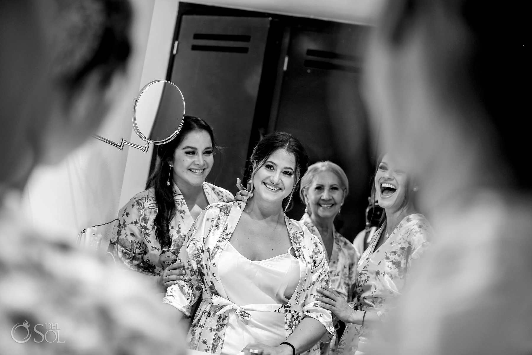 Bride getting ready Akumal Bay Beach and Wellness Resort Wedding