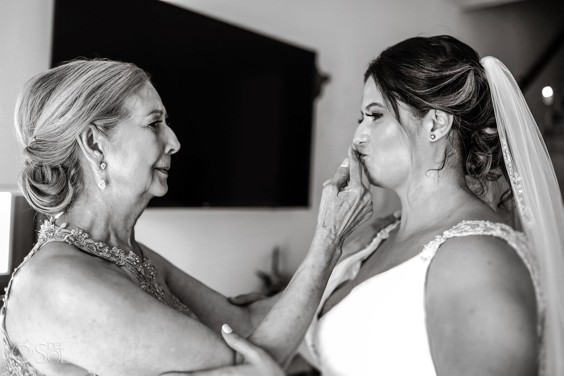 Mother blessing bride Akumal Bay Beach and Wellness Resort Wedding