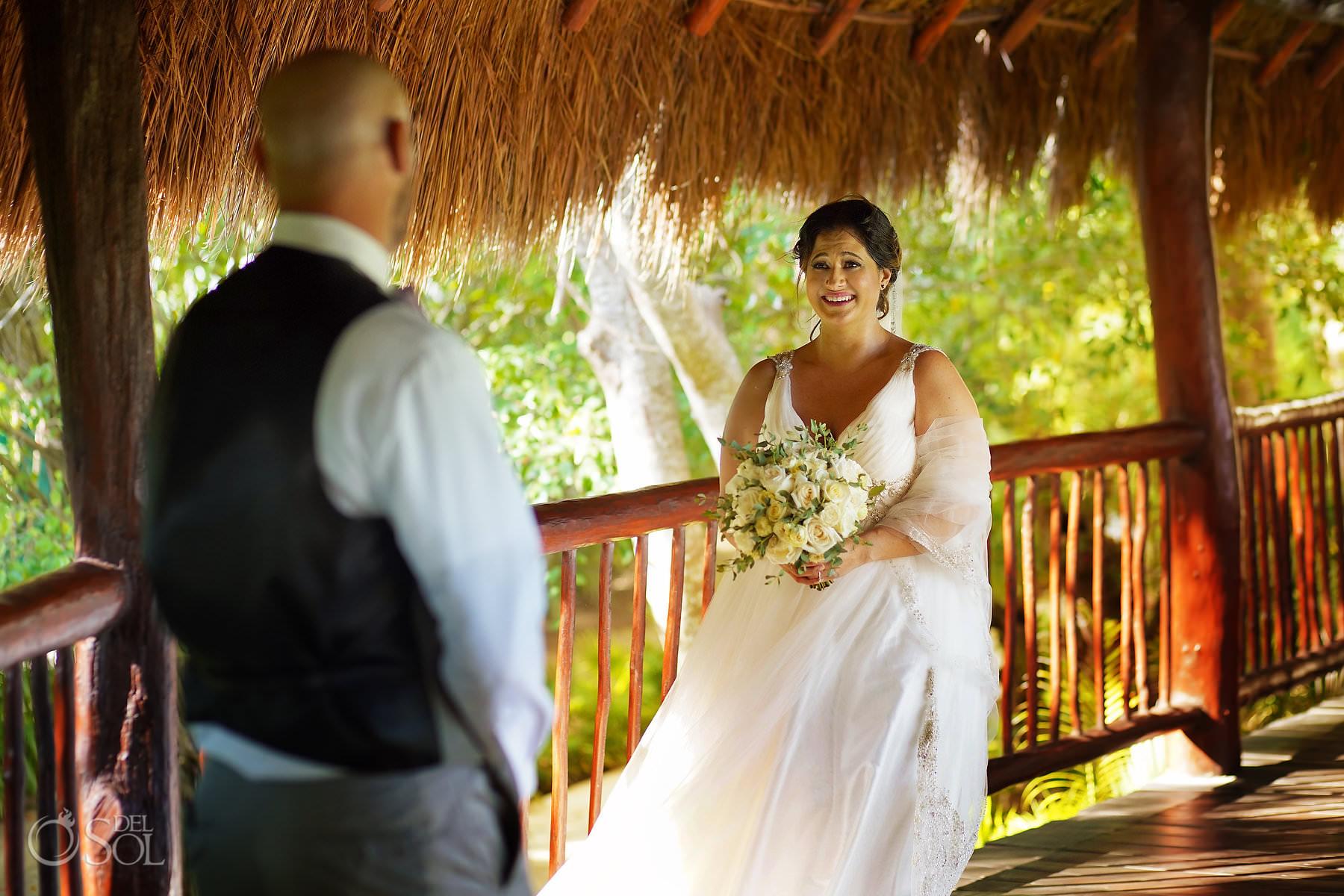 First look Akumal Bay Beach and Wellness Resort Wedding