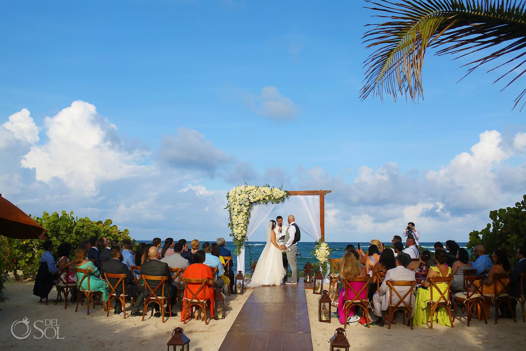 Akumal Bay beach Wedding tropical sea location Tulum Mexico