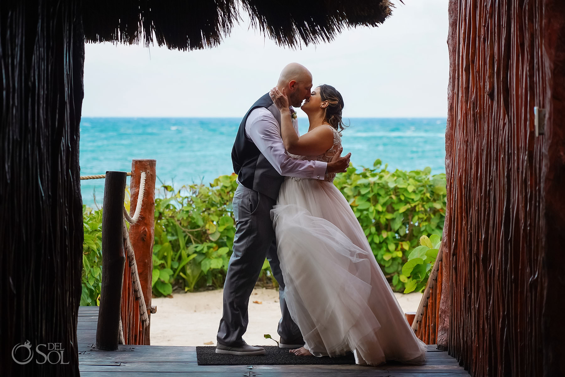 akumal bay beach and wellness resort wedding Maggie Sottero dress