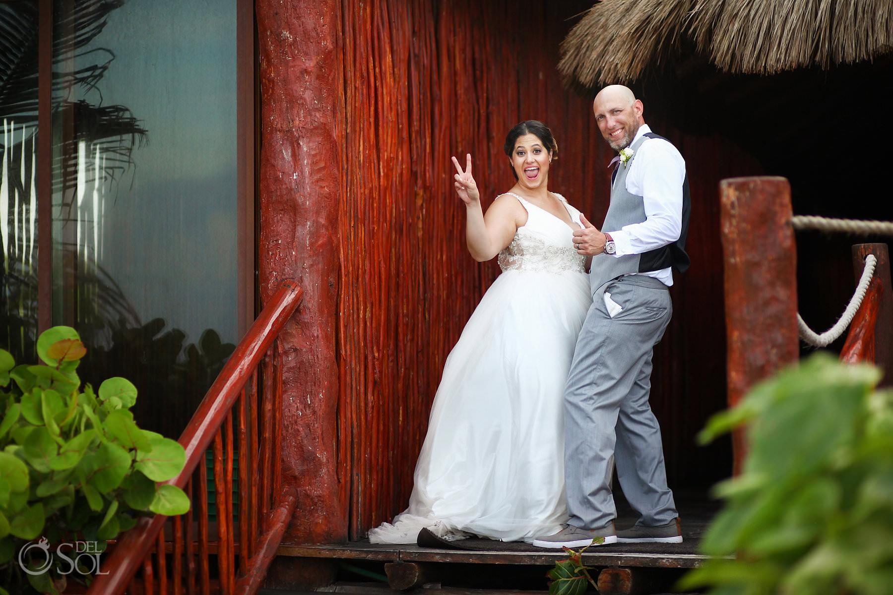 akumal bay beach and wellness resort wedding photos Tulum Mexico