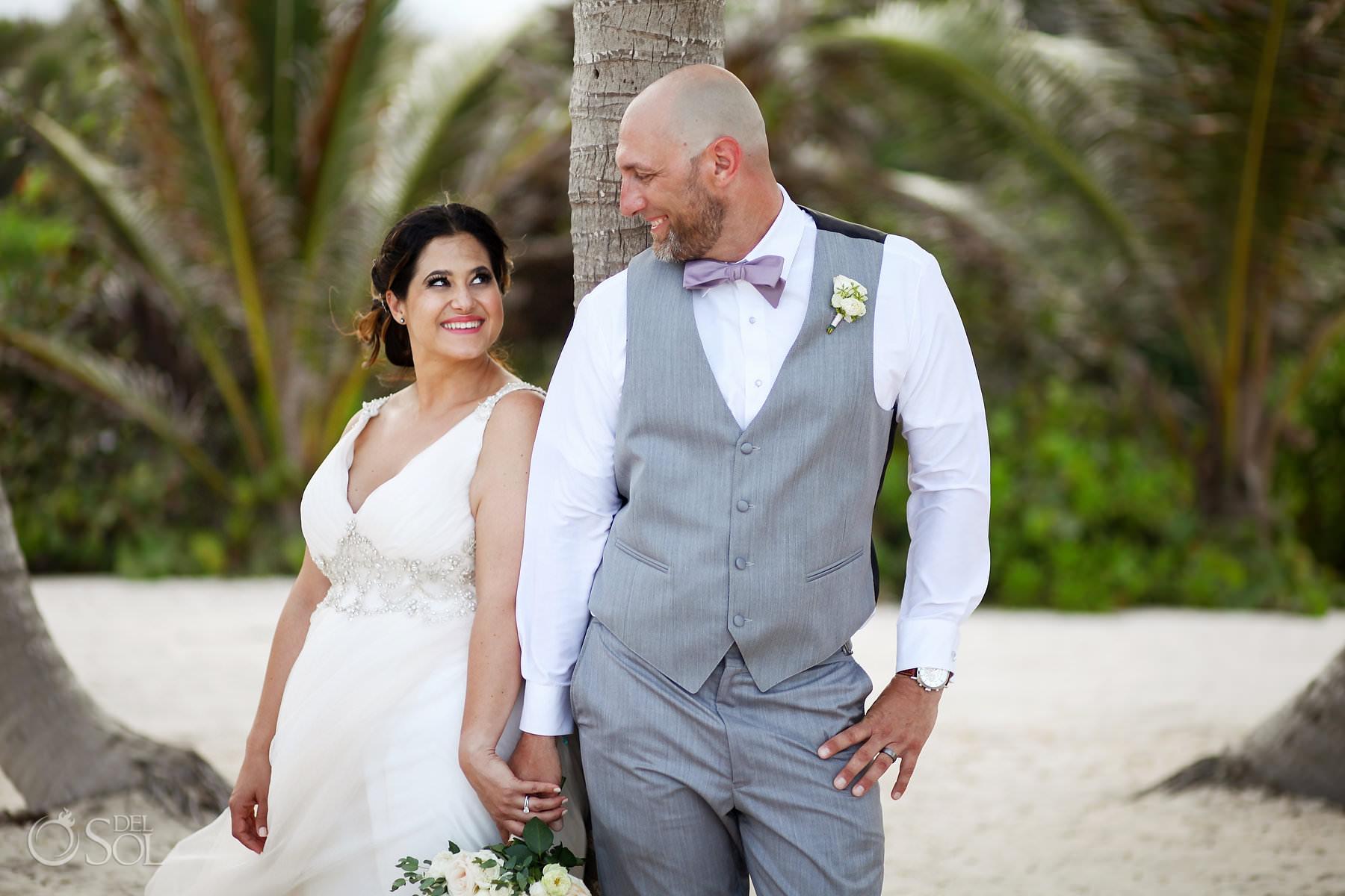 akumal bay beach and wellness resort wedding portraits