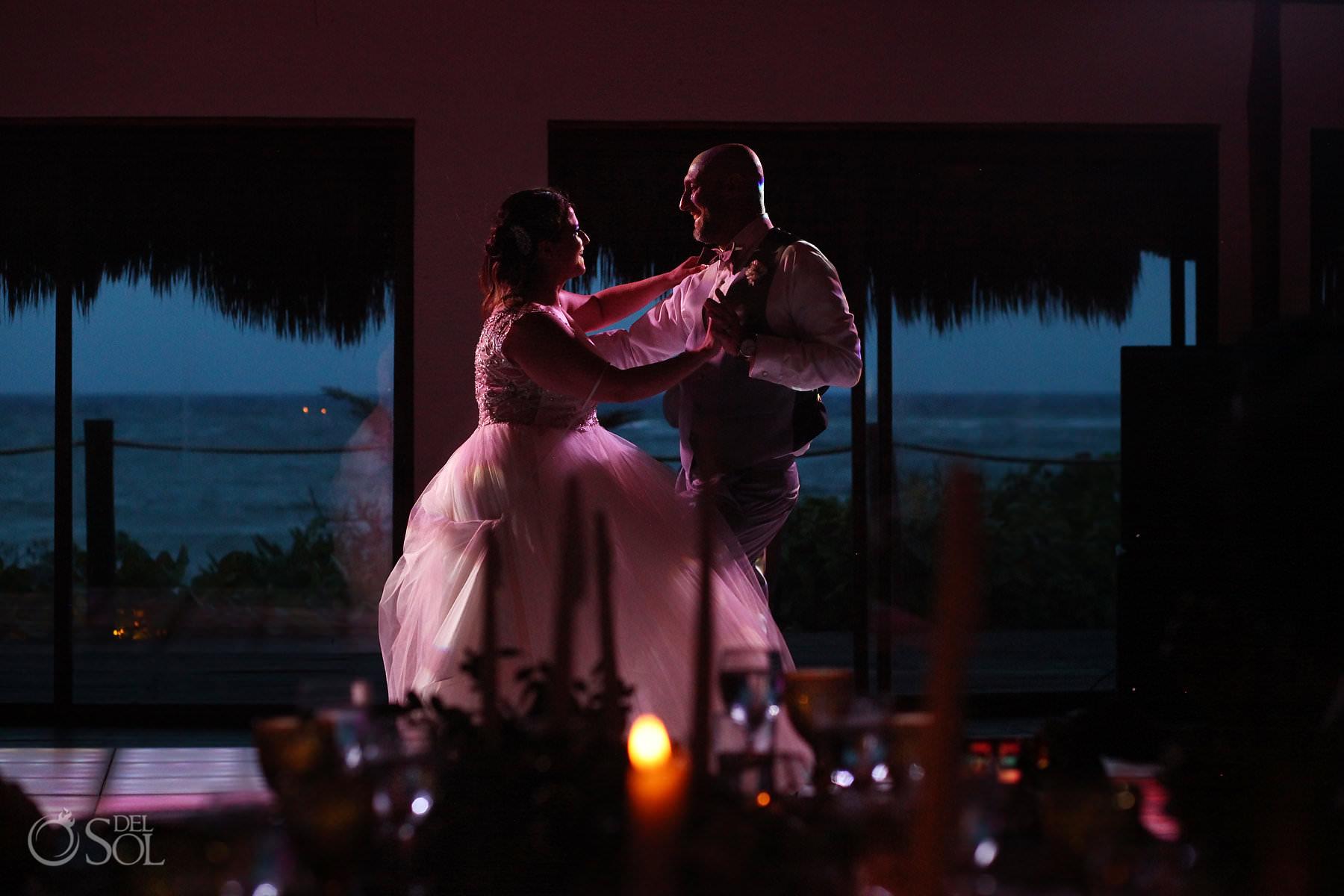 First Dance Labna Palapa akumal bay beach and wellness resort wedding reception
