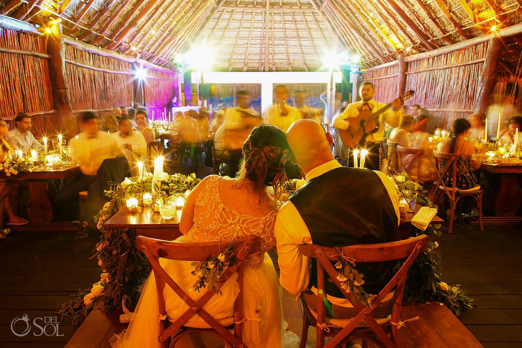 romantic wedding reception photo Akumal Bay labna palapa