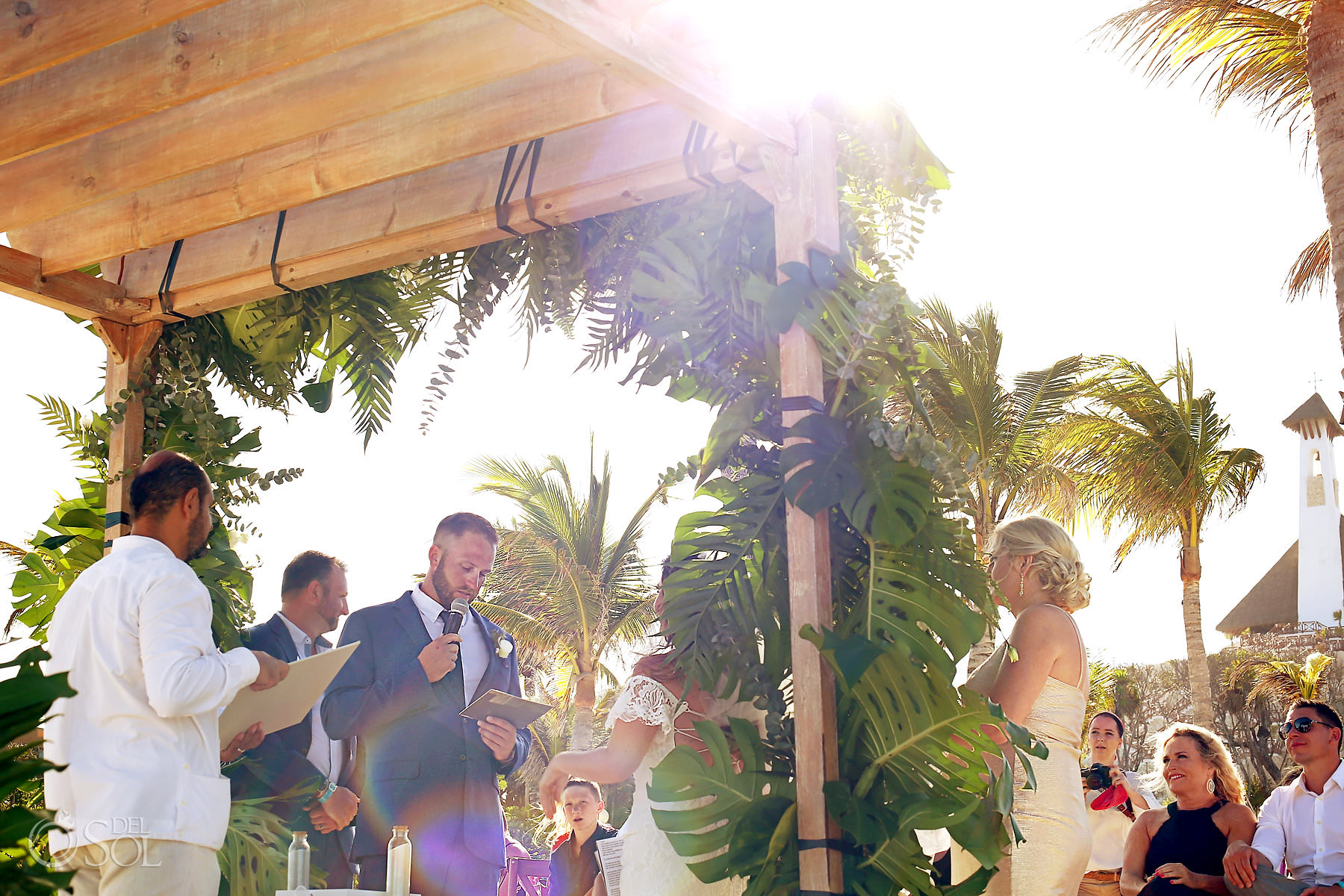 Beach wedding ceremony hotel Xcaret Mexico Playa del Carmen