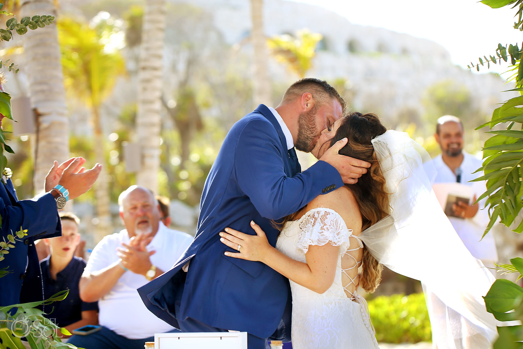 first kiss hotel Xcaret Mexico beach wedding Playa del Carmen