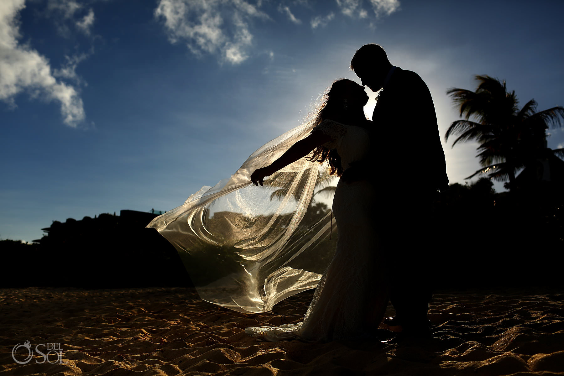 wedding portrait session Hotel Xcaret Mexico Riviera Maya
