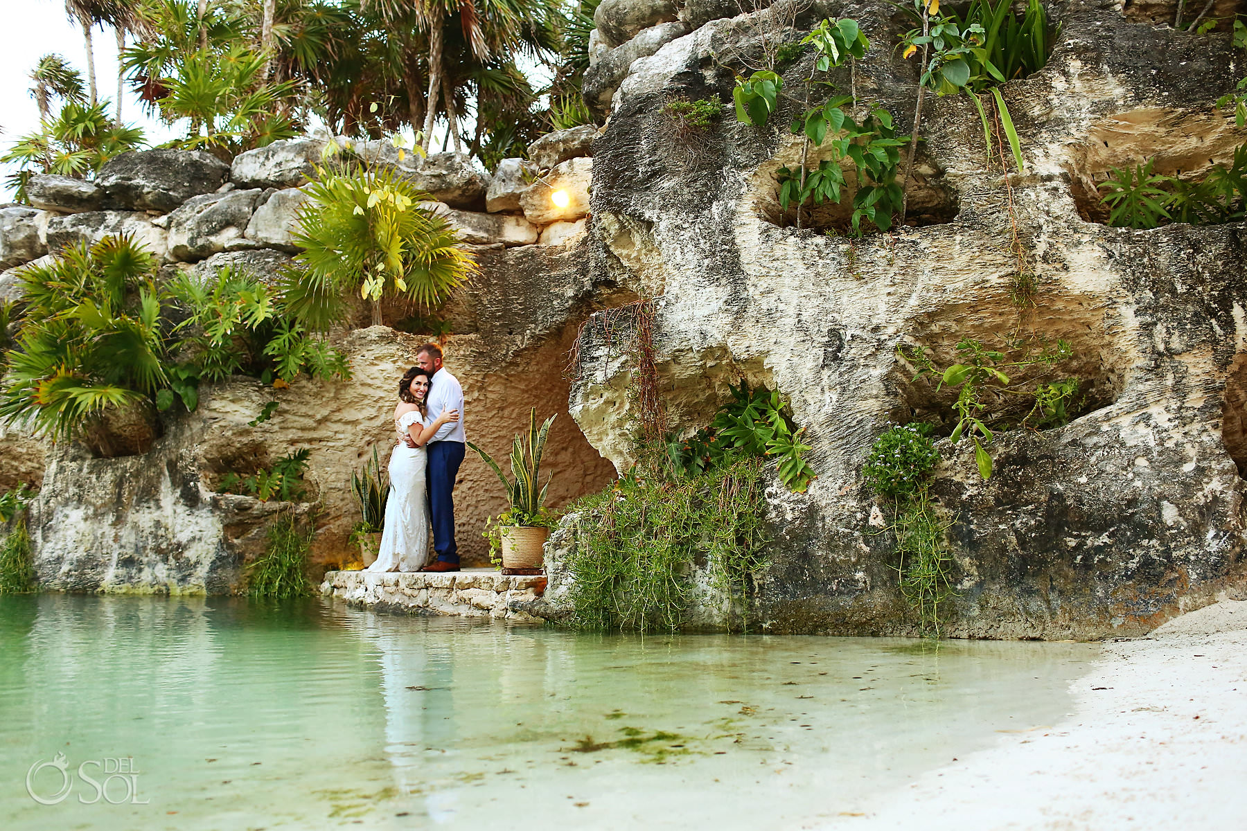 Hotel Xcaret Mexico Wedding reception location Cuevitas Caleta cave restaurant