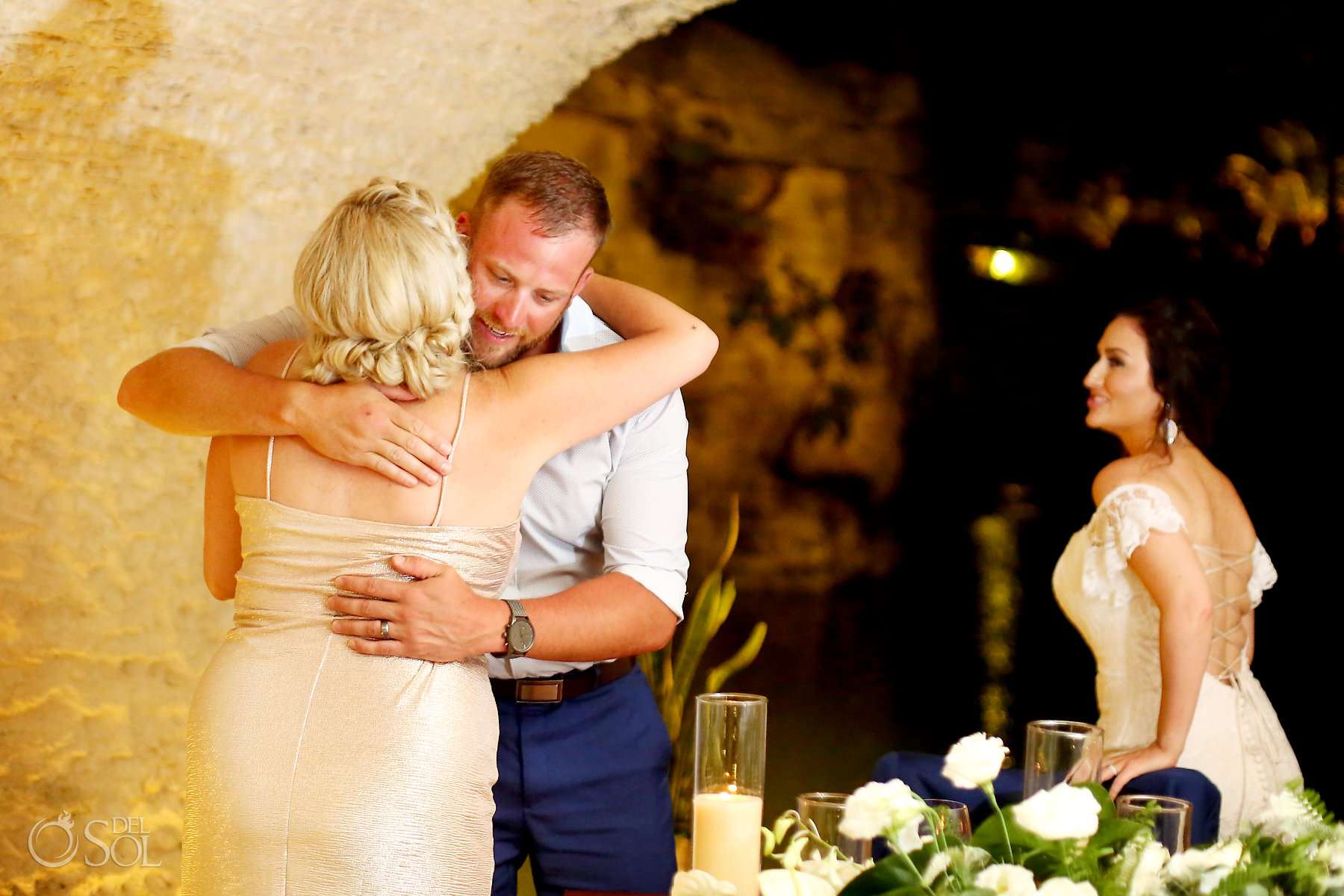 Hotel Xcaret Mexico Wedding reception location Cuevitas restaurant speeches