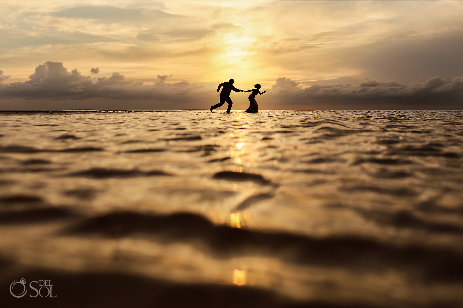 Beach Trash the Dress Isla Blanca sunset portrait session