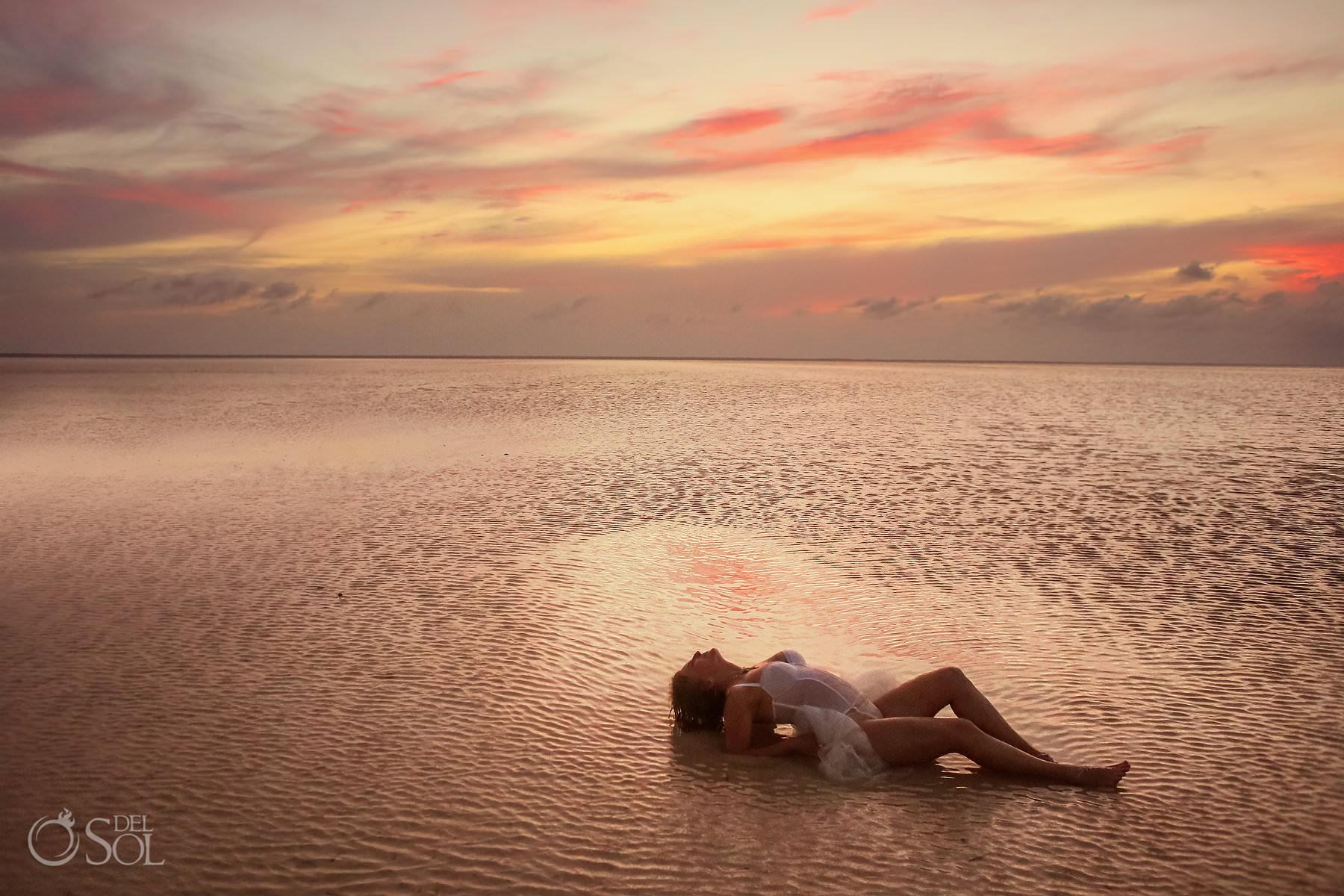 Sunset boudoir photo session dreams playa mujeres