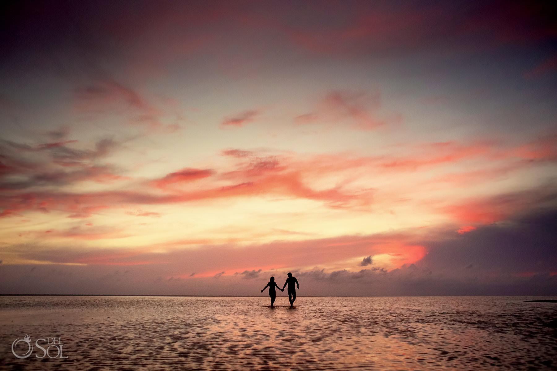 Dreams Playa Mujeres Trash the Dress Isla Blanca sunset portrait session