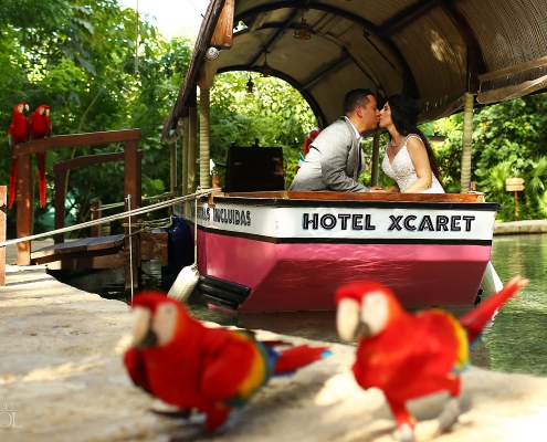 Scarlet Macaw Hotel Xcaret honeymoon adventure